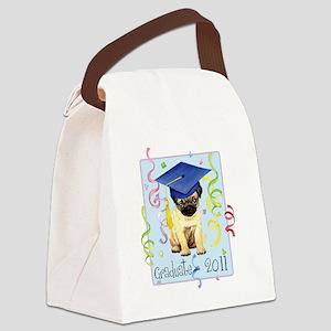 pug gradK Canvas Lunch Bag
