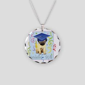 pug gradK Necklace Circle Charm