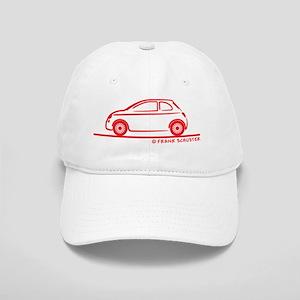 2010_Fiat 500_red Cap
