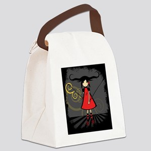 Samurai Girl Canvas Lunch Bag
