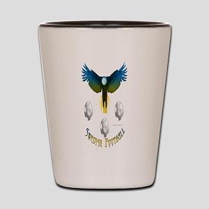 Sweden Soccer Eagle Shot Glass
