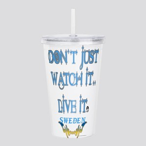 Sweden Lives Soccer Acrylic Double-wall Tumbler