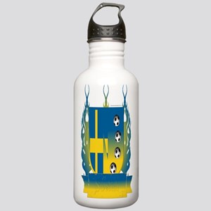 Sweden Soccer Shield3 Water Bottle