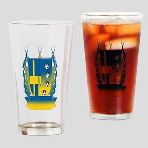 Sweden Soccer Shield3 Drinking Glass