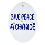 PEACE Stuff Oval Ornament