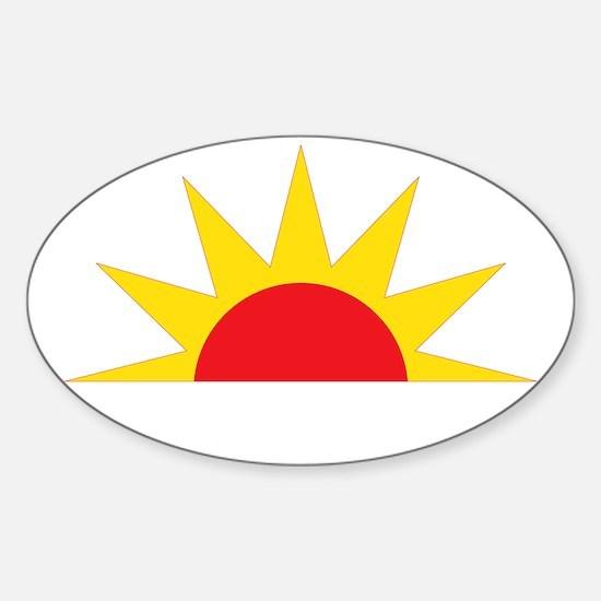 whatupsunwhite Sticker (Oval)