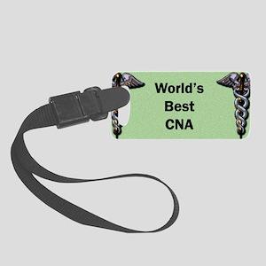 Worlds Best CNA Nurse Mug Small Luggage Tag