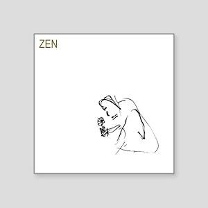 "zen_buddha_white_painted by Square Sticker 3"" x 3"""