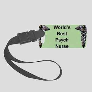 Worlds Best Psych Nurse Mug Small Luggage Tag