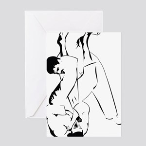armlock outline Greeting Card