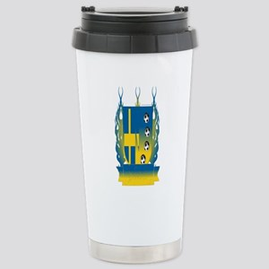 Sweden Soccer Shield3 Stainless Steel Travel Mug