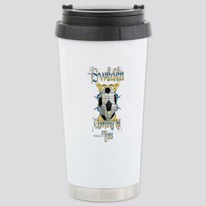 Swede Tribal Soccer Stainless Steel Travel Mug