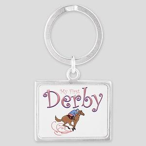 my first derby girl Landscape Keychain