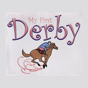my first derby girl Throw Blanket