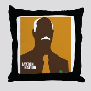 layton nation Throw Pillow