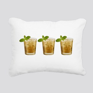 mint julep Rectangular Canvas Pillow