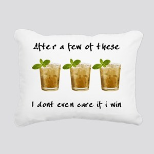 mint julep_light shirt Rectangular Canvas Pillow