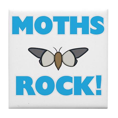 Moths rock! Tile Coaster