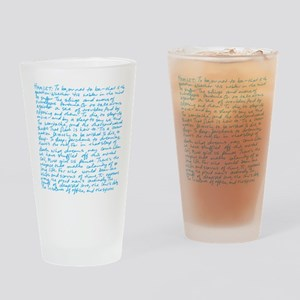 HamletBlue copy Drinking Glass