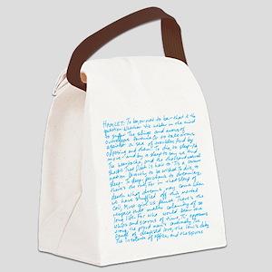 HamletBlue copy Canvas Lunch Bag