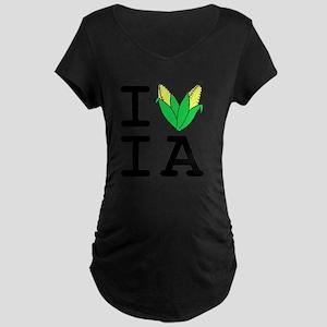 IheartIA v1 Maternity Dark T-Shirt