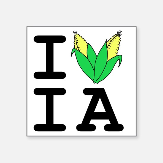 "IheartIA v1 Square Sticker 3"" x 3"""