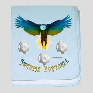 Sweden Soccer Eagle baby blanket
