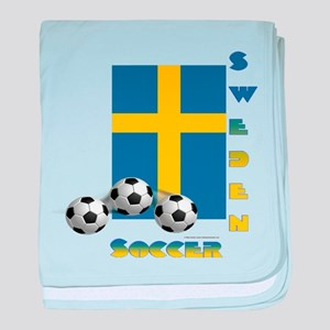 Sweden Soccer Power15 baby blanket