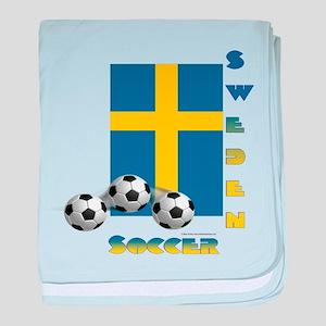 Sweden Soccer Power15 baby blanket