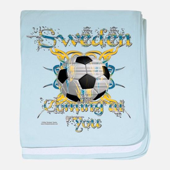 Swede Tribal Soccer baby blanket