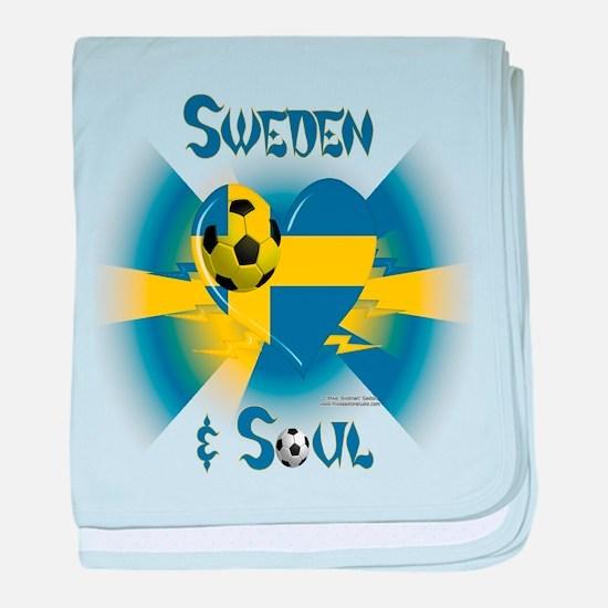 Swedish Soccer Soul baby blanket