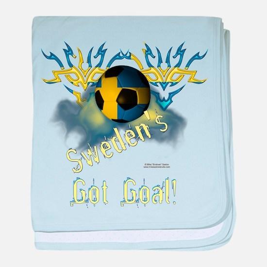 Swede Football Goal baby blanket