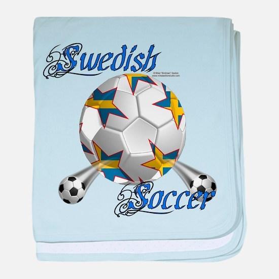 Swede Soccer Stars baby blanket