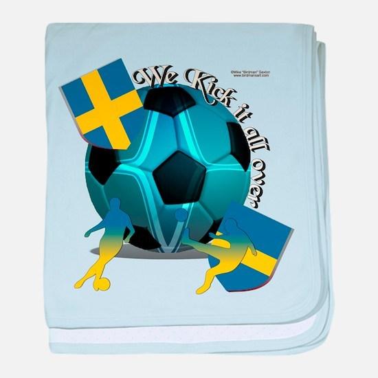 Sweden Kickin It Baby Blanket