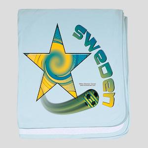 Sweden Star Swoosh Infant Blanket
