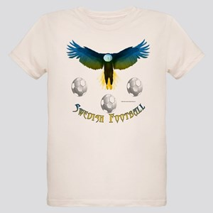 Sweden Soccer Eagle Kids Organic T-Shirt