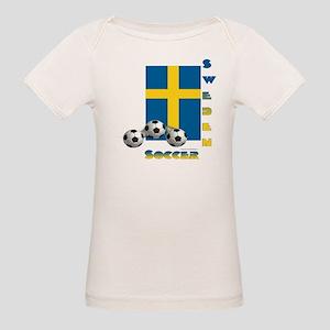 Sweden Soccer Power15 Organic Baby T-Shirt