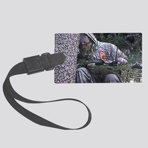 Sleepy Bowhunter Large Luggage Tag