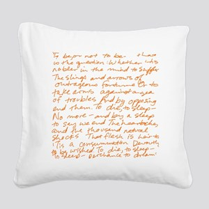 HamletSoliloquy Square Canvas Pillow