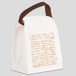 HamletSoliloquy Canvas Lunch Bag