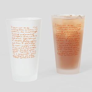 HamletSoliloquy Drinking Glass