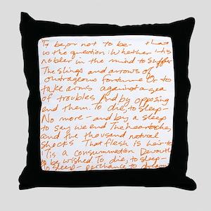 HamletSoliloquy Throw Pillow