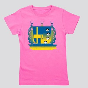 Sweden Soccer Shield3 Girl's Tee