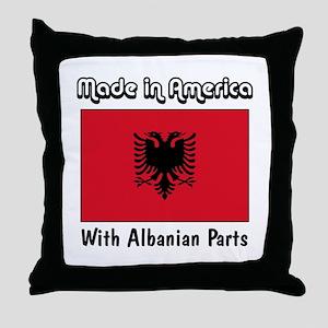 Albanian Parts Throw Pillow