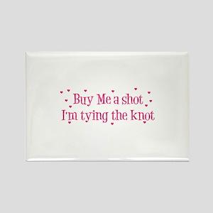 Buy Me A Shot - Hot Pink Rectangle Magnet