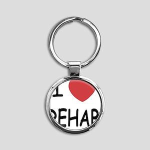 REHAB Round Keychain
