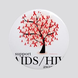 AIDSHIV-Tree Round Ornament