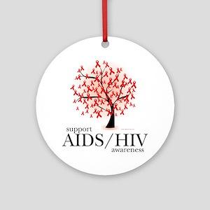 AIDSHIV-Tree Round Ornament