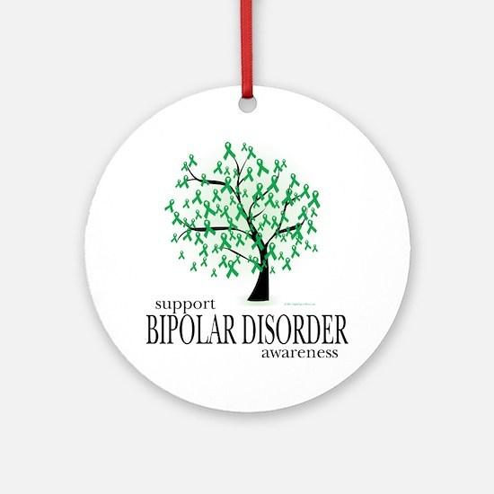 Bipolar-Disorder-Tree Round Ornament
