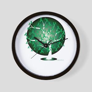 Bipolar-Disorder-Tree-blk Wall Clock